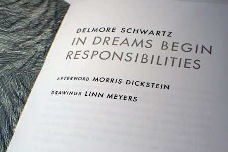 In Dreams Begin Responsibilities, title spread.