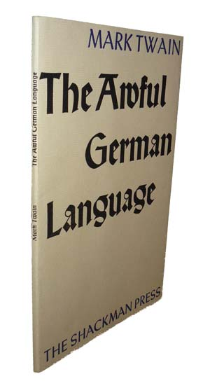 "mark twain essay the awful german language I've recently been spending a good deal of time working through a german book, and today the laborious reading provoked me to recall an essay by mark twain that i discovered a couple years ago: ""the awful german language"" (also available here) the essay is available as a free mp3 in three."